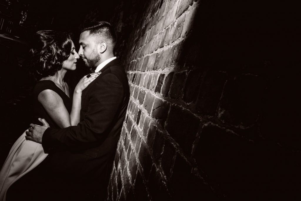 Romantic couple Engagement Photo Session at castle garden leicester
